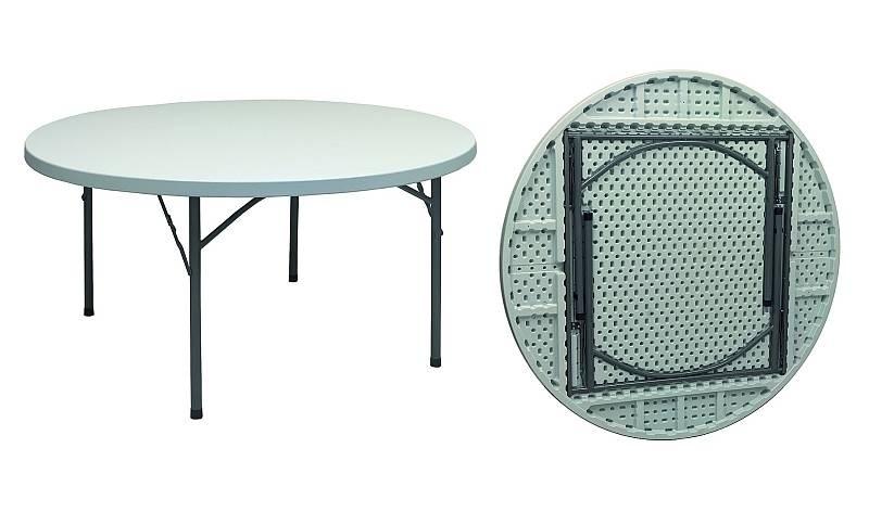 tavolo rotondo pieghevole per catering diam 180 pieghevole per catering e feste. Black Bedroom Furniture Sets. Home Design Ideas