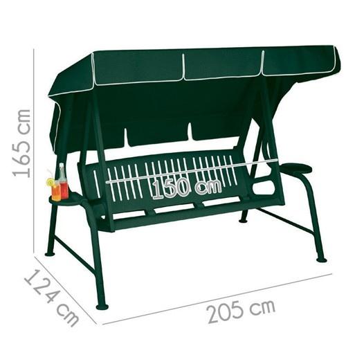Scab dondolo lord misto resina verde 3 posti struttura - Amazon dondolo da giardino ...