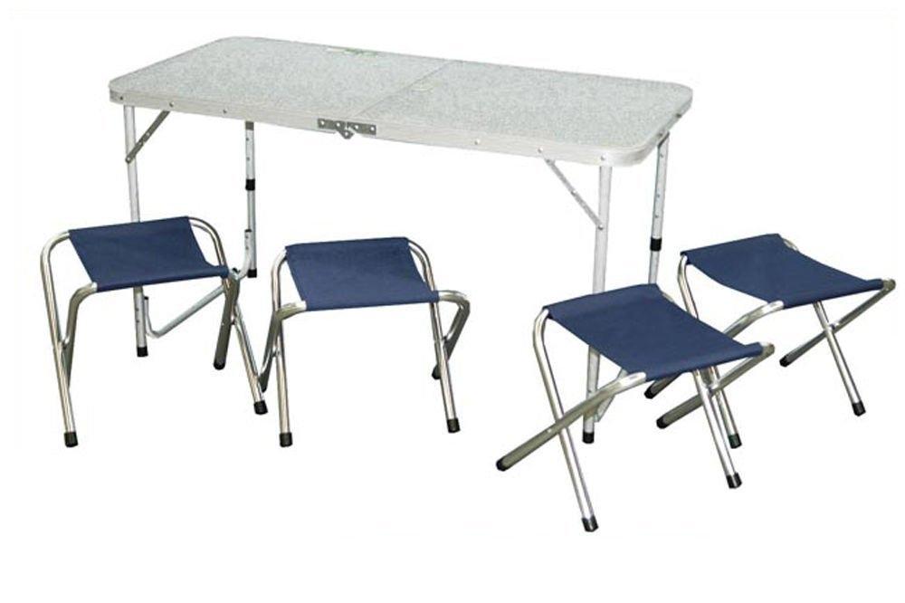 Set pic nic tavolo pieghevole 120 x 60 x 70 4 sedie pieghevoli - Tavolo pic nic decathlon ...