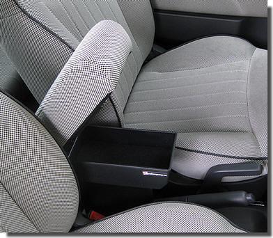 Bracciolo regolabile con portaoggetti per Fiat 500, 500C, 500S