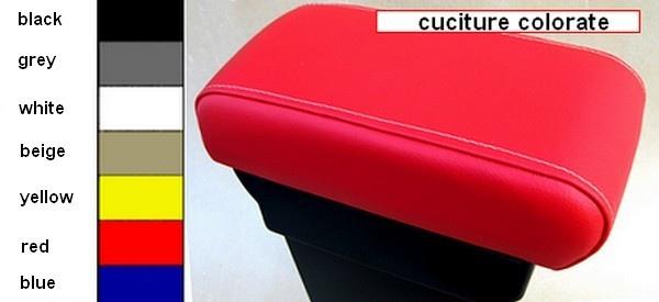 Bracciolo con portaoggetti per Fiat 500 , 500C, 500S