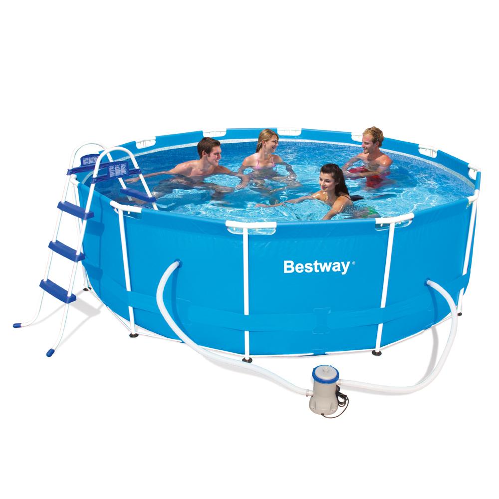 Piscina bestway steel pro frame circolare 56260 diam 366 x 100 - Montaggio piscina bestway ...