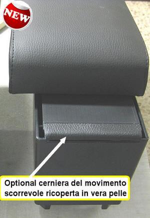 Bracciolo regolabile con portaoggetti per Land Rover Freelander 2 (2007-2012)