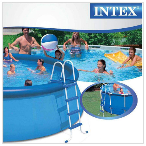Scaletta per piscina intex 58974 28062 easy frame h 122 cm for Tappeto per piscina intex