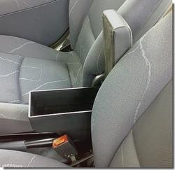 Bracciolo regolabile con portaoggetti per Nissan Tino - Almera