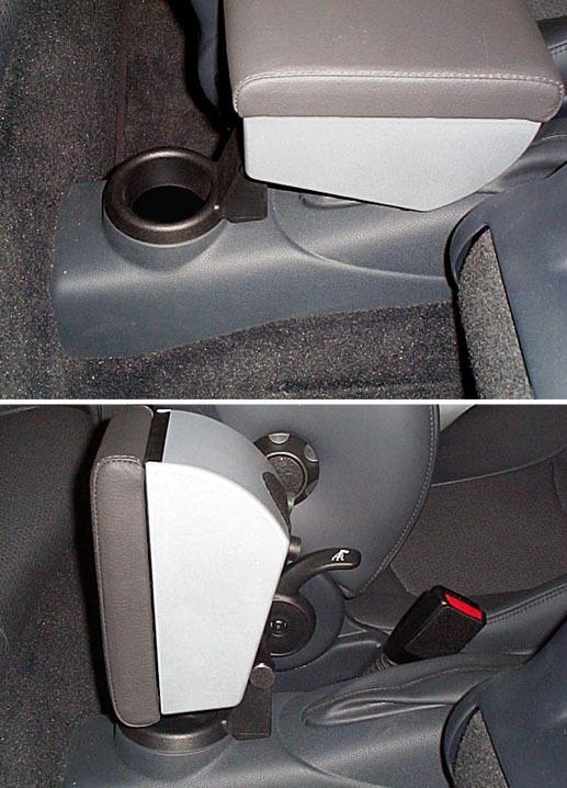 Bracciolo regolabile con portaoggetti per Mini (2014>) F56 - 3 generazione
