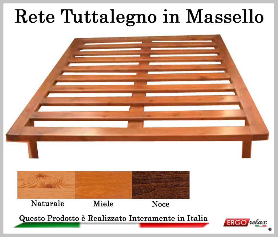 Rete in legno mod tuttalegno massello 120x190 195 200 100 for Eckcouch 200 x 160