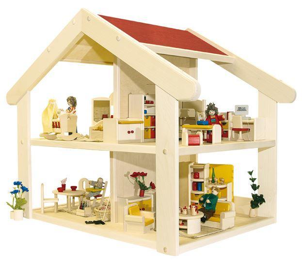 Casa delle bambole in legno filius montata di rulke - Casa delle bambole in legno ikea ...