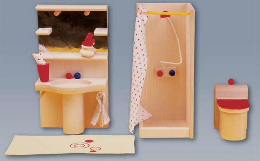 Set Mobili per Casa delle Bambole in Legno