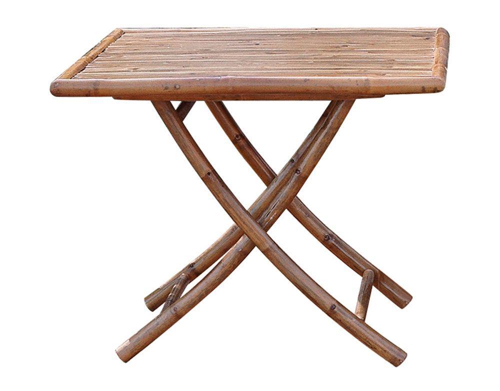Tavolo quadrato 90 x 90 cm realizzato completamente con canne di bamb resistente e ottimo per - Canne usate per realizzare sedie e tavoli ...