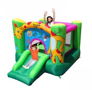 Castello gonfiabile Happy Hop GIRAFFA art 9403 - Simpaticissimo Gonfiabile con Salterello e Scivolo compreso pompa