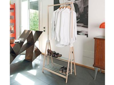 Piantana appendiabiti pieghevole in legno STAND UP di Foppapedretti Colore bianco naturale
