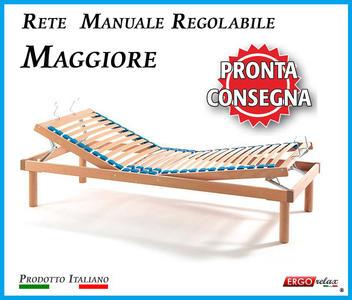 Rete Manuale Regolabile Maggiore a Doghe di Legno da Cm. 80x190/195/200 Pronta Consegna Prodotto Italiano