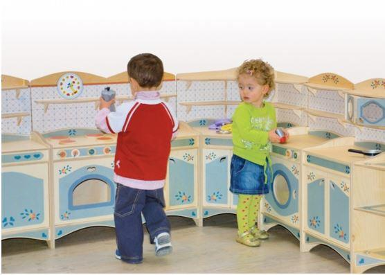 Mobiletto cucina in legno naturale per cucina - Cucine per bambine ...