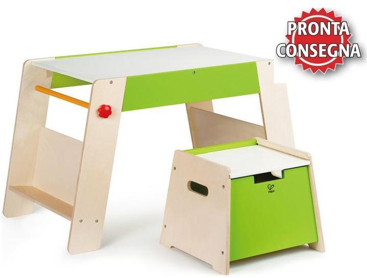 Tavolino multifunzione gioco disegno con sgabello in legno for Tavolino per bambino