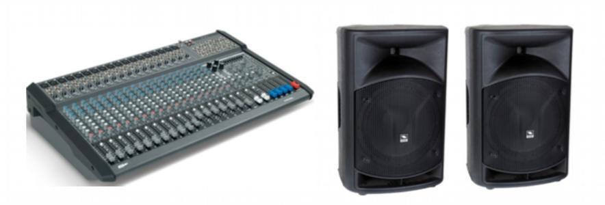 Proel KIT mixer amplificato M1500USB + n.2 casse passive WAVE12P