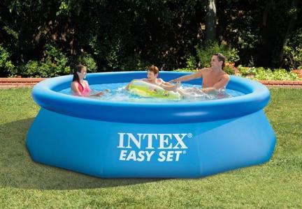 Piscina fuori terra INTEX 28112 Easy Set tonda Ø 244 cm con anello gonfiabile e filtro