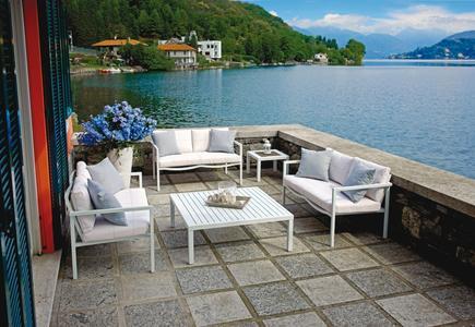 Salotto da giardino SET LOANO alluminio bianco SET21