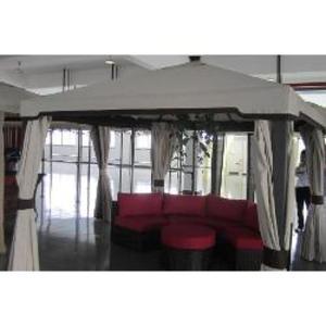 Telo ricambio in textilene spalmato PVC impermeabile Gazebo KIOTO 3x4