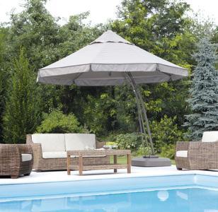 Ombrellone da giardino PIETRO per esterno automatico rotondo diametro mt. 3,5 alluminio palo laterale 5021