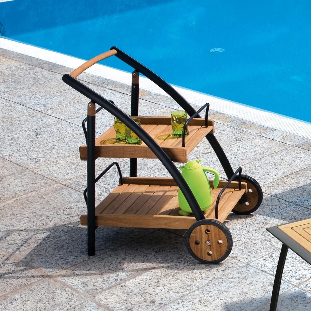 Descrizione completa carrello porta vivande dalle linee eleganti e moderne e 39 realizzato in - Carrello portavivande da giardino ...