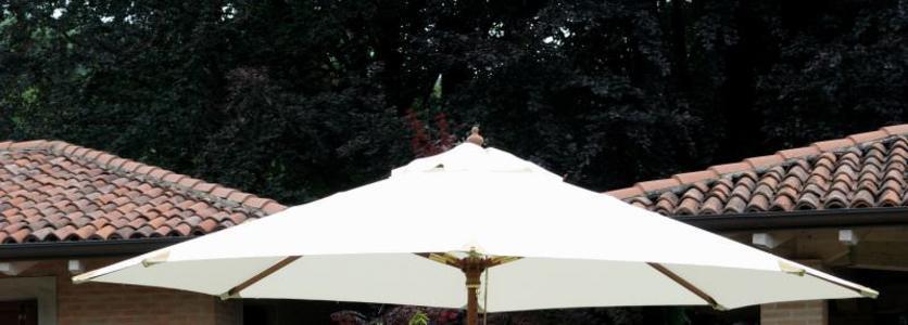 Copertura Ecrù per ombrellone da giardino diam 3 mt