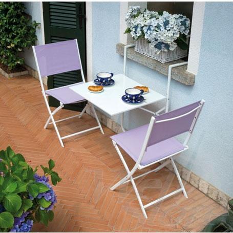 Moia tavolo da ringhiera 60 x 56 cm rtf 19 bianco - Tavolo pieghevole con sedie ...