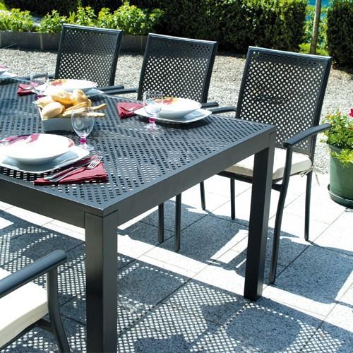 Greenwood rta 76 posillipo tavolo rettangolare antracite for Tavolo giardino colorato