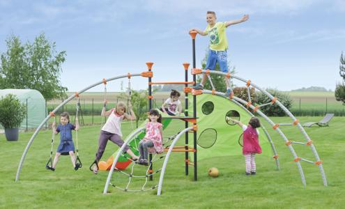 AREA GIOCHI per bambini in metallo ADVENTURE IN METALLO torre scivolo scala anelli