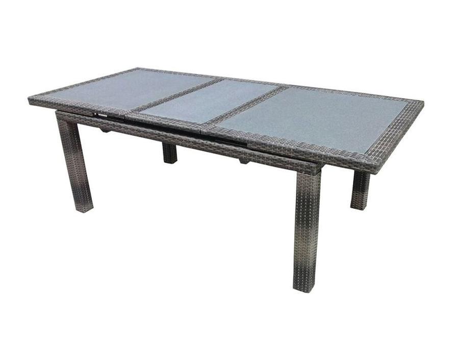 Tavolo poitiers allungabile 170 220x100cm wicker spazzolato avana e vetro temp art rtw 82 - Tavolo vetro temperato opinioni ...