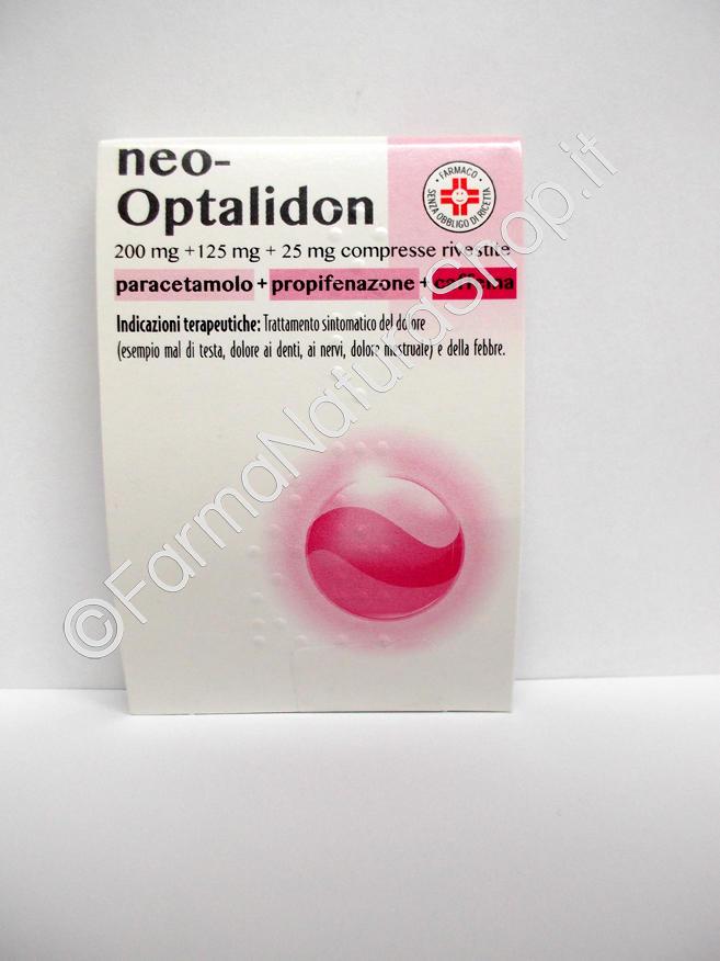 NEO-OPTALIDON 200 mg + 125 mg + 25 mg compresse rivestite