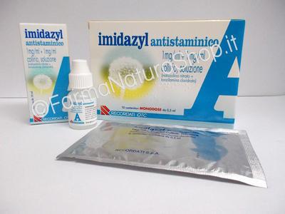 IMIDAZYL ANTISTAMINICO 1 mg / ml + 1 mg / ml collirio