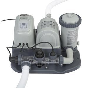 Pompa filtro clorinatore ecosterilizzatore combo con sistema e.c.o. per piscine fino a 26.500 L INTEX 28674