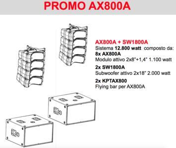 Proel AXIOM AX800A KIT Line Array attivo - SPEDIZIONE INCLUSA