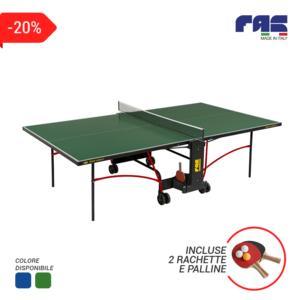 Ping pong GARDEN richiudibile da ESTERNO, colori: verde, blu + 2 racchette e un tubo di palline OMAGGIO - FAS