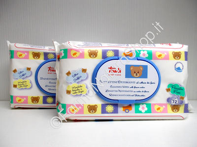 TRUDI Baby Care Bipack - Salviette Detergenti al Nettare dei Fiori