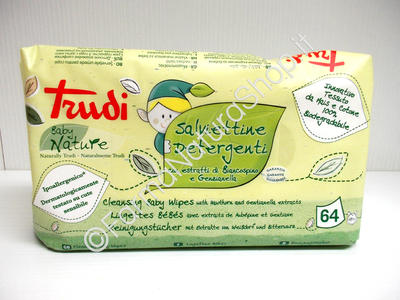 TRUDI Baby Nature - Salviette Detergenti al Bancospino e Genzianella