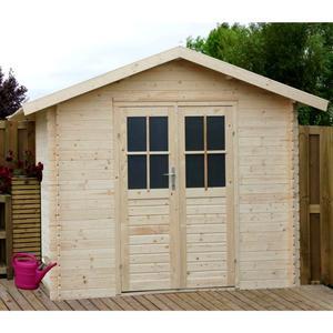 Casetta da giardino modello TINA ricovero attezzi in legno perline ad incastro cm 288 X 288 cm