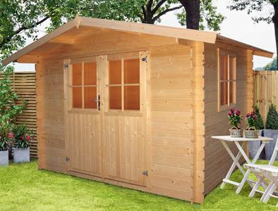 Casetta da giardino modello JULIA ricovero attezzi in legno perline ad incastro cm 270 x 200 cm