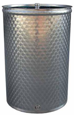 Botte Fusto serbatoio contenitore enologico lt 110 in acciaio inox per vino