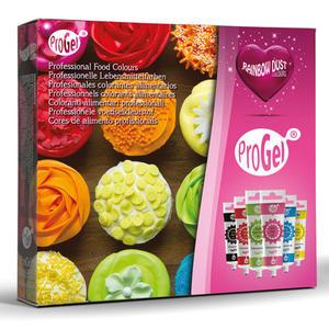 Set 6 colori alimentare concentrati gel Rainbowdust Progel colori primari