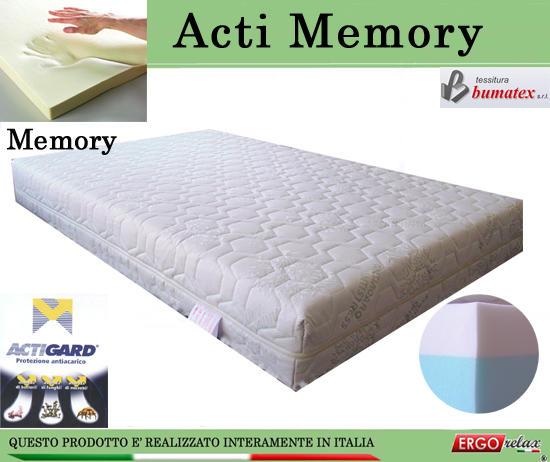 Materasso Memory Mod. Acti Memory da Cm 140x190/195/200 Antiacaro Antistress Sfoderabile Altezza ...