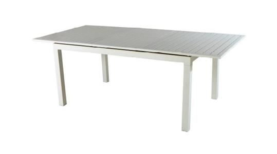 TAVOLO da giardino SAN GIMIGNANO allungabile 160/210 x 100 cm alluminio bianco RTA 32
