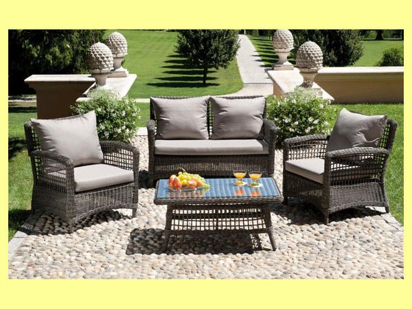 Set Divanetto giardino Palau divano + 2 poltrone ...