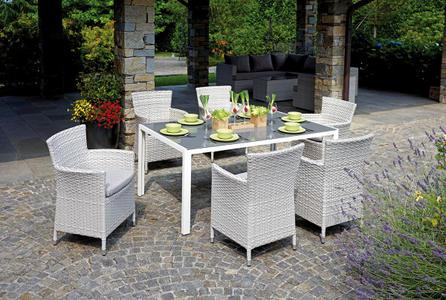 Set da giardino per pranzare DINING SET VARIGOTTI 6 poltrone e tavolo  DS 06