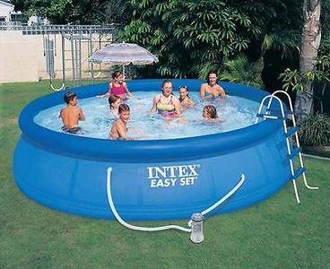 Piscina rotonda gonfiabile Intex 28166 Easy Set piscina fuori terra gonfiabile rotonda 457x107