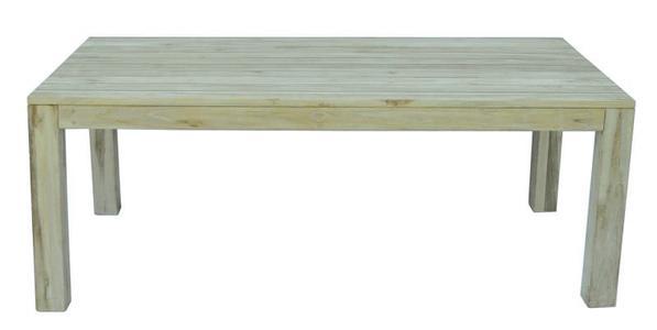 TAVOLO da giardino BALI 200×100 cm legno TEAK sbiancato WRT 03W