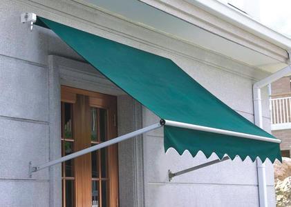 Tenda da sole da muro 240 x 120 poliestere 180 gr resinato telaio alluminio colore verde TEN 65