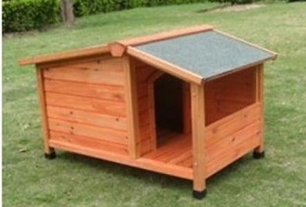 Cuccia per cani in legno VERANDA MEDIUM cm 120X75X h 77 ALTEZZA