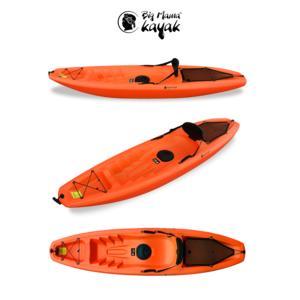 GIL Big Mama Kayak - Canoa Da 266 Cm + 1 Gavone + 1 Pagaia + 1 Seggiolino + 1 Ruotino (Colore Arancio)